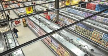 Compras nos supermercados diminuíram