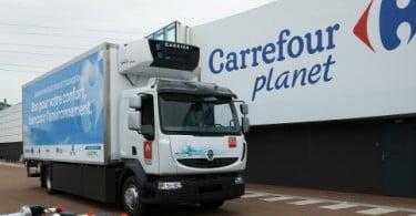 Maior camião elétrico do mundo em experiência no Carrefour