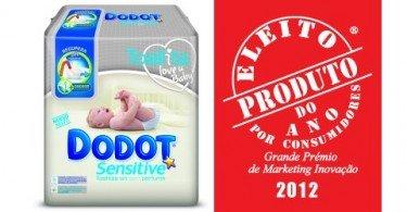 Toalhitas Dodot Sensitive vencem Produto do Ano 2012