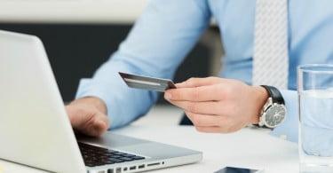 pagamentos online - PC e cartão de crédito