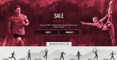 Reebok loja online Distribuição Hoje