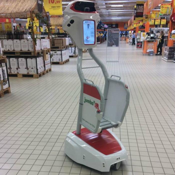 carrinho de compras autónomo Jumbo