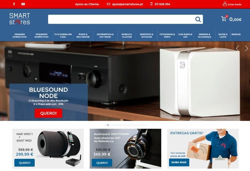 e-commerce de eletrónica de consumo