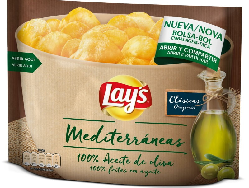 Lay's Mediterrâneas 100% em azeite