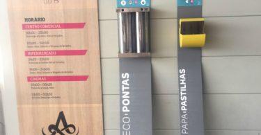 EcoPontas e Papa-Chicletes Centros Comerciais Alegro