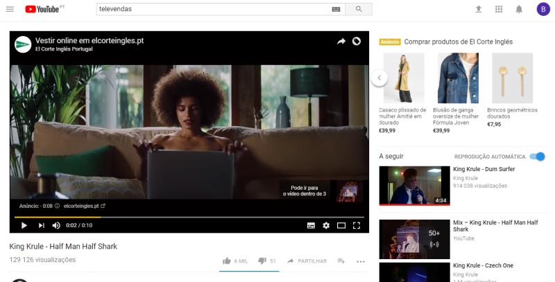 El Corte Inglés estreia 'Trueview for Shopping' no Youtube