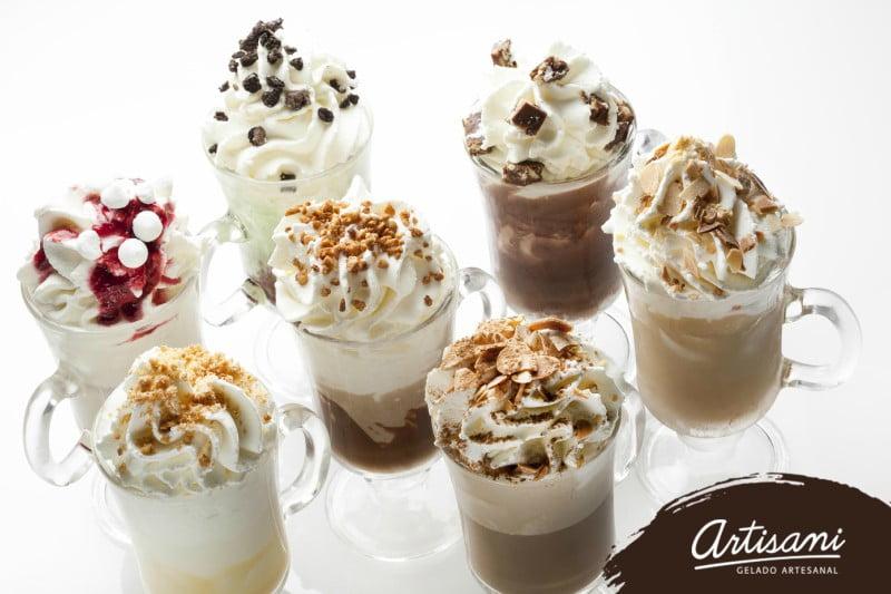 Artisani cria linha de bebidas quentes com gelado