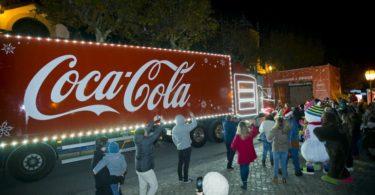Camião da Coca-Cola em Portugal pela primeira vez