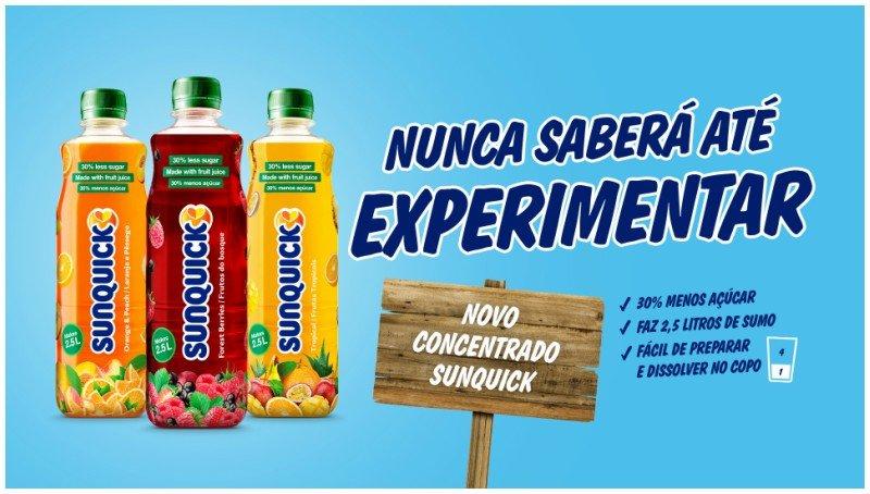 Sunquick lança variedades com menos 30% de açúcar e nova embalagem