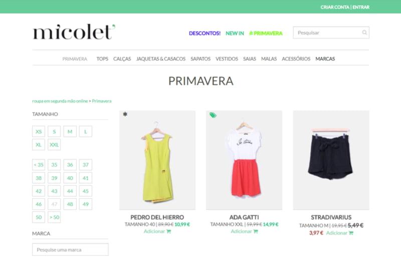 Plataforma de venda de roupa em segunda mão chega a Portugal