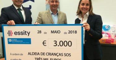 Essity doa 3 mil euros à Aldeias de Crianças SOS