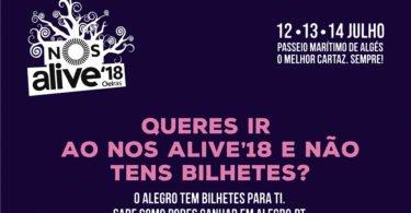 Alegro Alfragide está a oferecer bilhetes para o NOS Alive