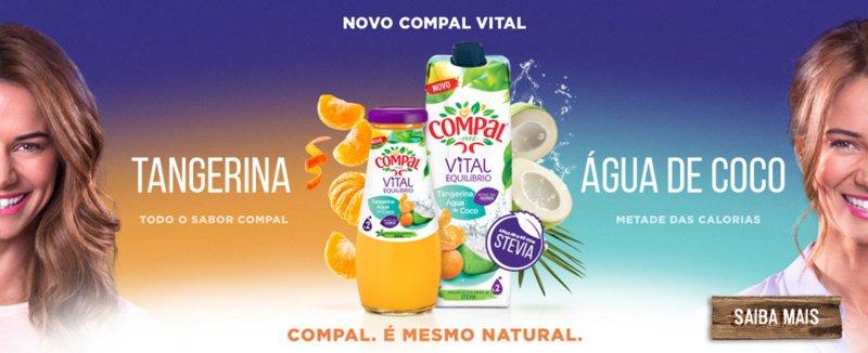Compal lança néctar de Tangerina e Água de Coco