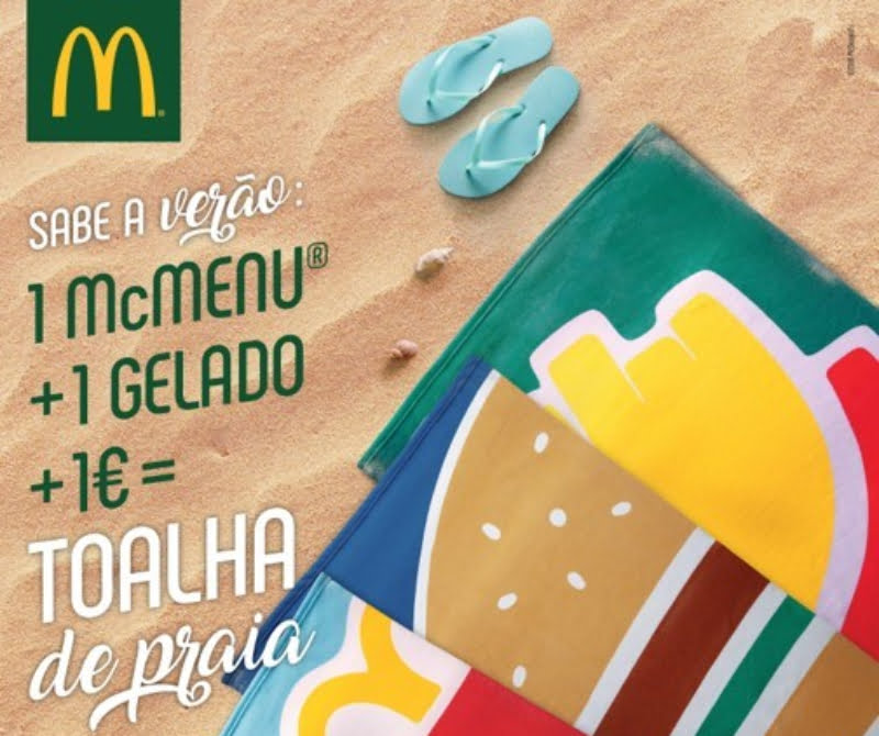 McDonald's oferece toalhas de praia