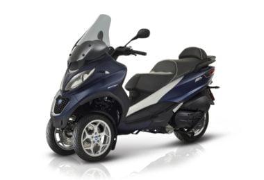Scooter de três rodas da Piaggio tem novas versões