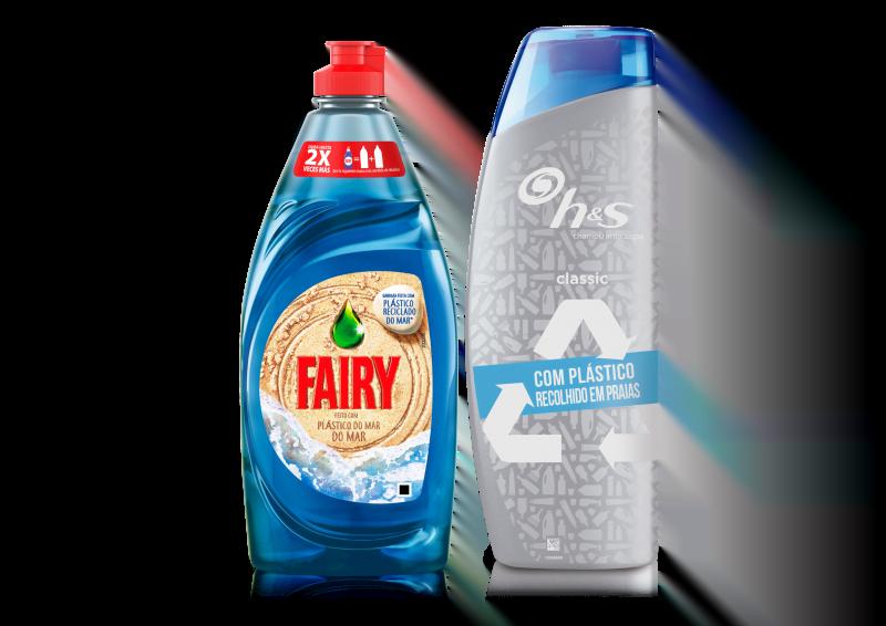 H&S e Fairy lançam embalagens produzidas com plástico recolhido nos oceanos
