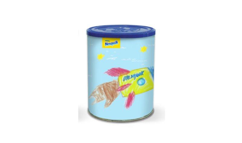 Nesquik lança edição limitada com embalagens criadas por crianças