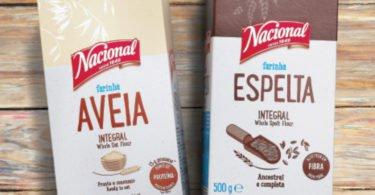 Nacional lança farinhas de Aveia Integral e Espelta Integral