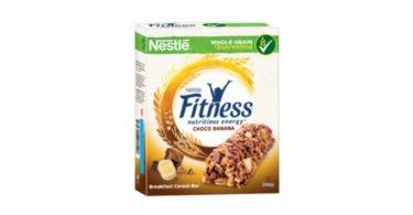 Nestlé lança barras de cereais Fitness de chocolate e banana