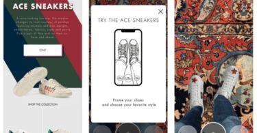 Gucci deixa experimentar sapatos com recurso a realidade aumentada