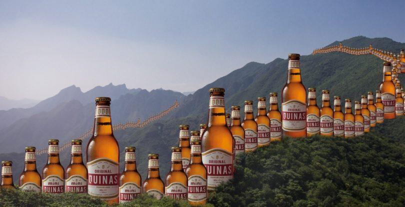 Cerveja Quinas segue à conquista da China