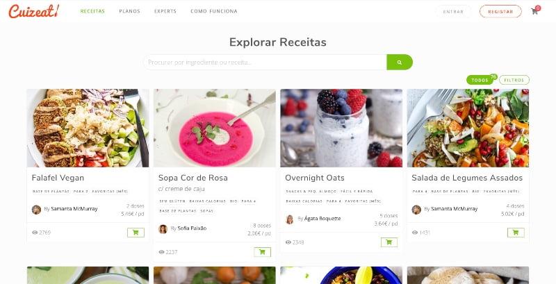 Cuizeat: há uma nova plataforma de planeamento de refeições em Portugal