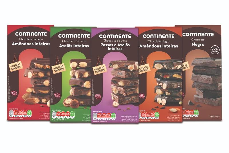 Continente lança novos chocolates com cacau sustentável