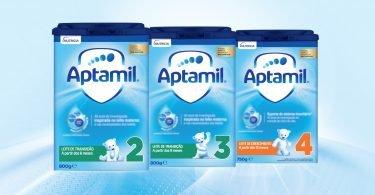 Leites de transição da Aptamil com nova fórmula