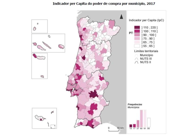Poder de compra em Lisboa é mais do dobro da média nacional