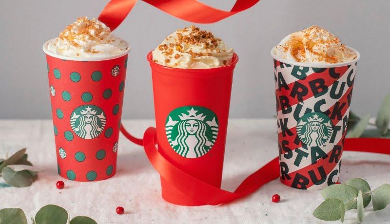 Copos 'festivos' chegam às lojas Starbucks