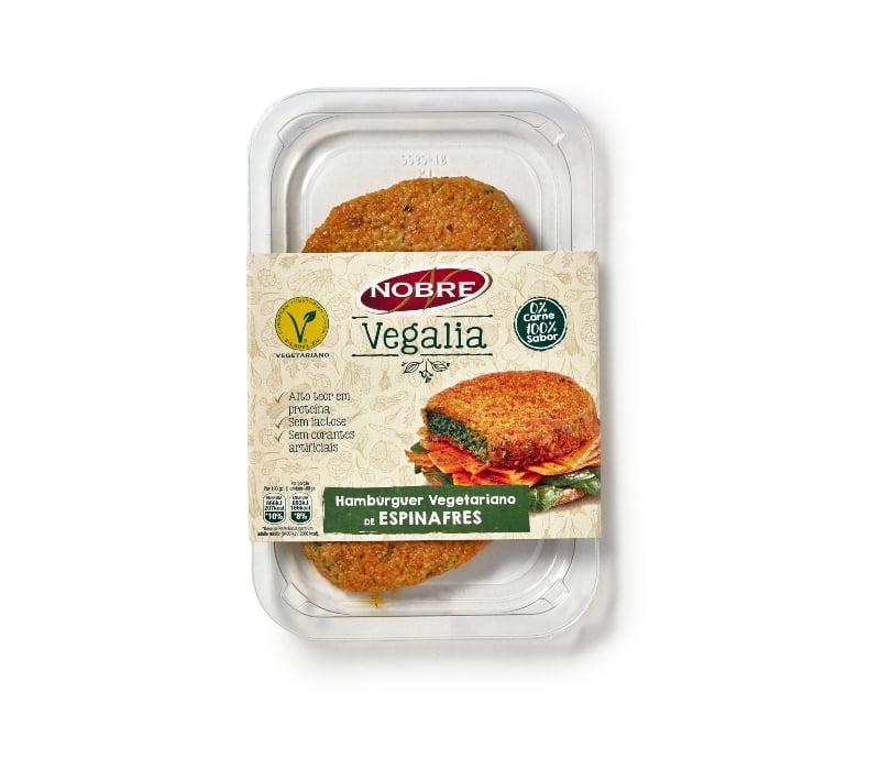 Nobre Vegalia lança hambúrgueres e nuggets