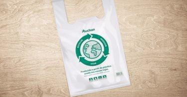 Saco Eco Circular da Auchan Retail Portugal é 100% reciclado e 100% reciclável