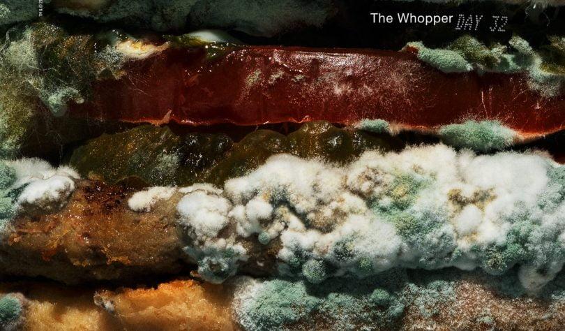 Burger King anuncia eliminação de conservantes com Whopper coberto de bolor