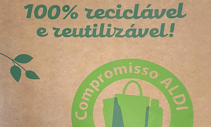 Aldi Portugal introduz sacos de papel Kraft