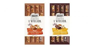Nestlé lança novas tabletes Les Recettes de L'Atelier