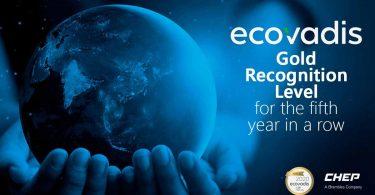 """CHEP distinguida com classificação """"Gold"""" na área da sustentabilidade"""