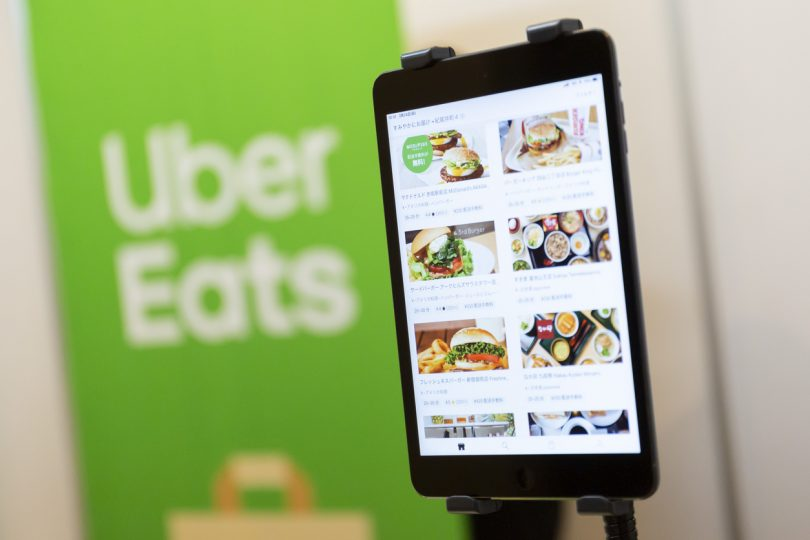 Uber Eats app and logo