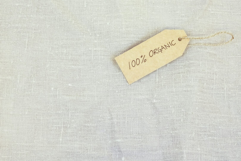 etiqueta 100% organica