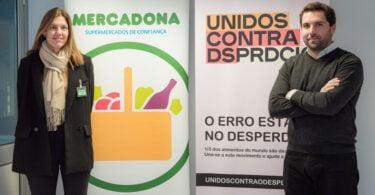 Ana Mendia Diretora de Responsabilidade Social da Mercadona Portugal Francisco Mello e Castro Coordenador Executivo do Mov Unidos Contra Desperdício scaled e