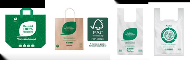 Auchan aposta em alternativas a sacos de plástico