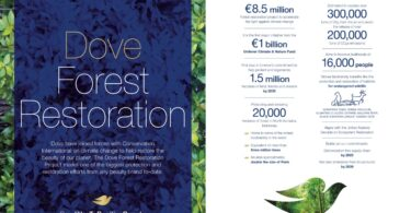 A Dove anunciou o Projeto de Restauração Florestal elaborado para proteger e restaurar as florestas no Norte da Sumatra, na Indonésia.