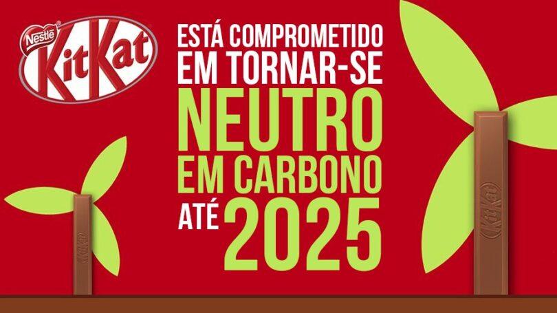 A Kitkat, uma das marcas de chocolate mais conhecidas do mundo, comprometeu-se em tornar-se neutra em carbono até 2025.