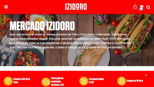 A Izidoro abriu uma nova loja online onde é possível encomendar produtos nas categorias de talho, charcutaria e mercearia.