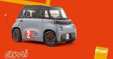A FNAC anunciou que vai vender nas suas lojas, a partir de setembro, o novo Citroën AMI, um veículo de dois lugares, totalmente elétrico.