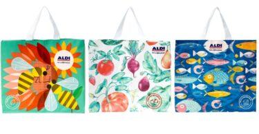 A Aldi Portugal convidou três ilustradores portugueses a desenvolver ilustrações para os novos sacos reutilizáveis da retalhista.