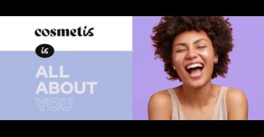 """A Cosmetis, loja online de produtos de dermo-cosmética, apresentou uma nova imagem, de forma a reforçar a mensagem """"Is All About You""""."""